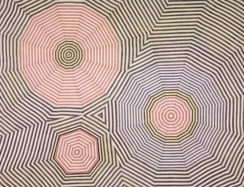 Well, it's a fabric drawing. By the ever-fabulous Louise Bourgeois.