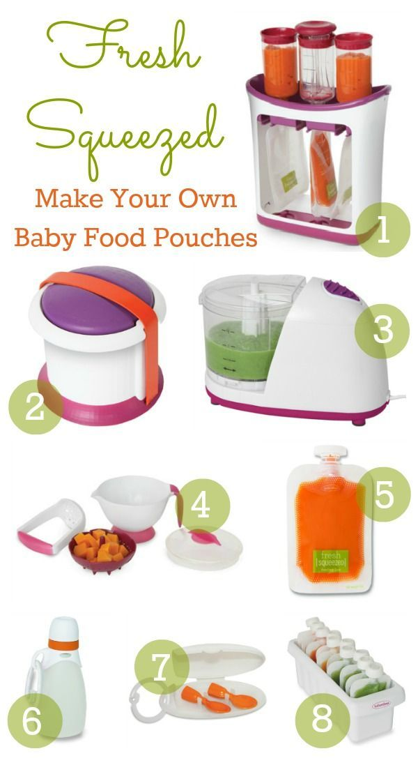 Fresh Squeezed by Infantino baby food pouch system