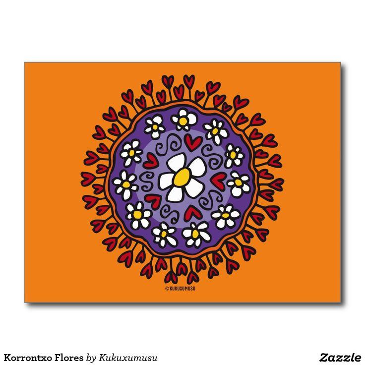 Korrontxo Flores #tarjeta #postal #postcard