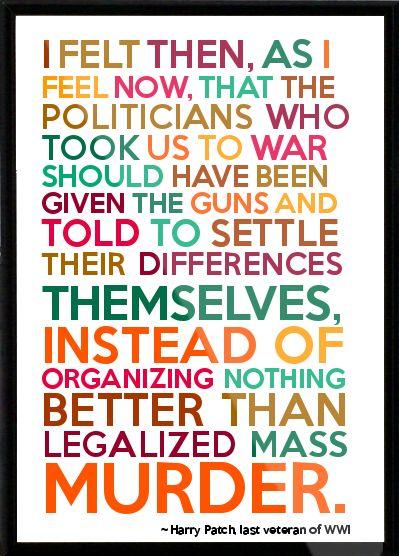 World war I quote