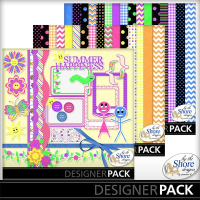 Digital Scrapbooking Kits | Summer Happiness Combo Pack-(BTSD) | Everyday, Seasons | MyMemories By The Shore Designs