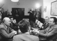 Giulio Andreotti és Kádár János az MSZMP székházában, 1981