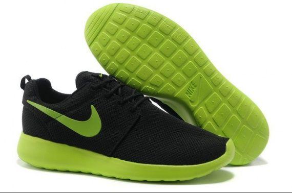 Roshe Trainers Hombre Negro Verde Amarillo Zapatillas-www.comprafree.com 0 vote Votez !