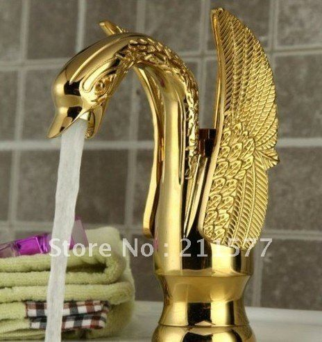 8 best Gold swan faucet images on Pinterest | Bathroom basin taps ...