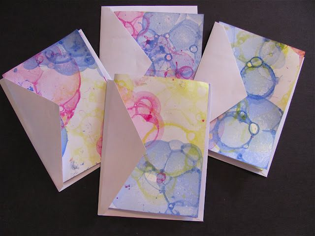 Bubble print cards - cute idea for thank you notes