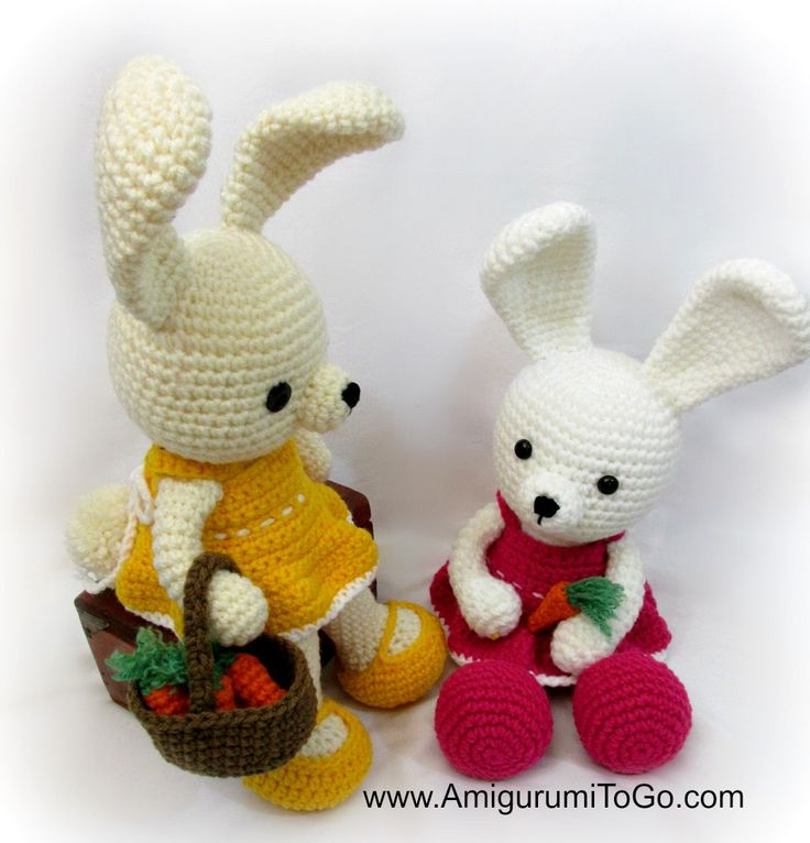 Amigurumi To Go Tutorial : Easy spring dress and basket of carrots tutorial now on