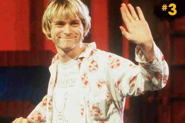 Kurt Cobain with Short Hair