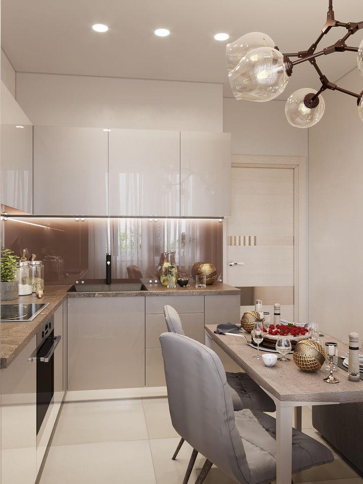 Дизайн кухни теплые тона фото