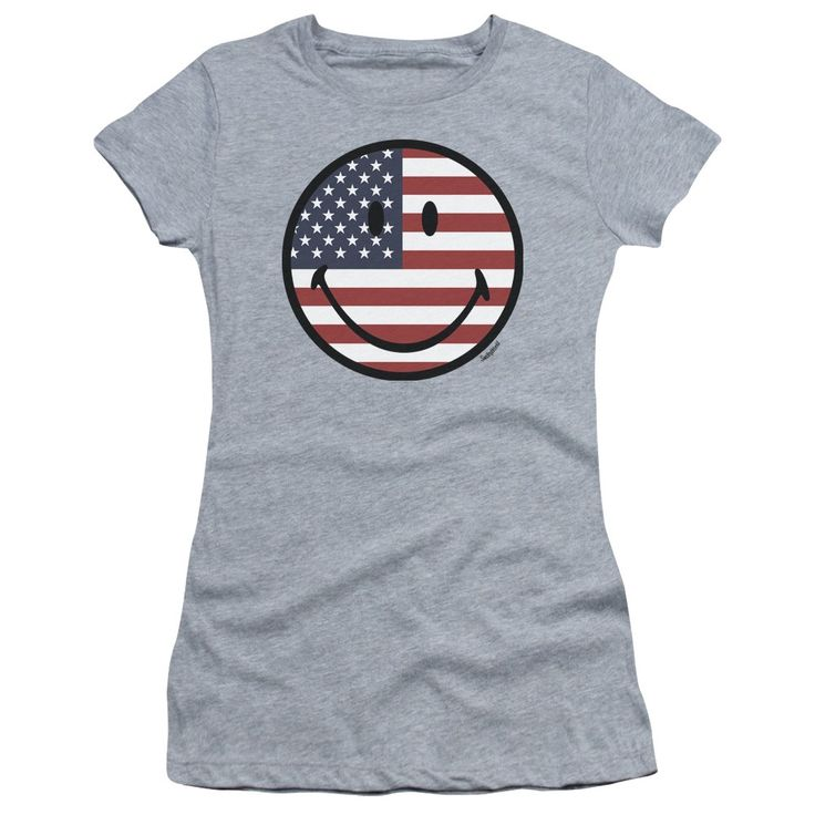 "Checkout our #LicensedGear products FREE SHIPPING + 10% OFF Coupon Code ""Official"" Smiley World / American Flag Face-short Sleeve Junior Sheer-athletic Heather-sm - Smiley World / American Flag Face-short Sleeve Junior Sheer-athletic Heather-sm - Price: $34.99. Buy now at https://officiallylicensedgear.com/smiley-world-american-flag-face-short-sleeve-junior-sheer-athletic-heather-sm"