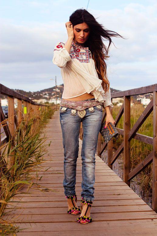 Bohemian Modern Hippie, Boho Chic Fashion & Style | CLICK for more http://www.pinterest.com/happygolicky/boho-chic-fashion-bohemian-jewelry-boho-wrap-brace/