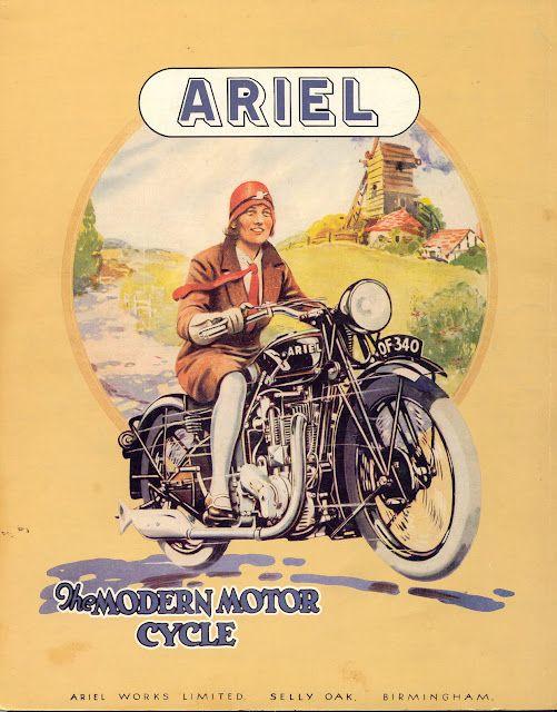 Vintage Ariel motorcycle poster