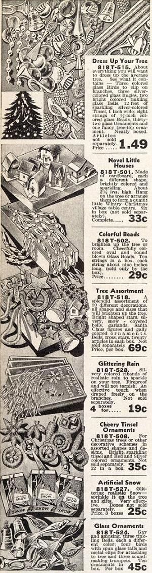 I want all this for my tree.... Vintage c1930's Christmas Tree Decorations