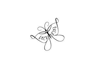 angel butterfly...it would make a great tattoo for me w/out the name Lucy on it