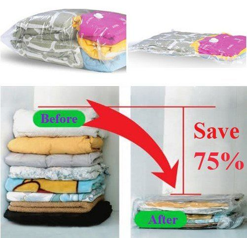 vacuum seal a blanket pillow and towel for each family member they shrink so small that they. Black Bedroom Furniture Sets. Home Design Ideas