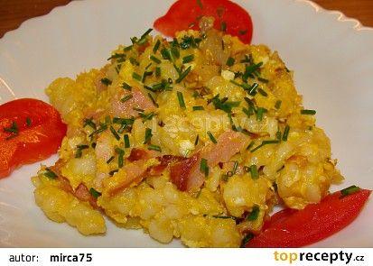Nokerle s vajíčkem recept - TopRecepty.cz
