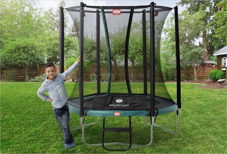 Petit trampoline enfants Talent Berg 180cm + filet de protection