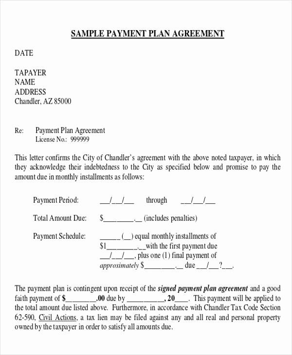 Payment Plan Agreement Template Fresh 28 Business Agreement Forms