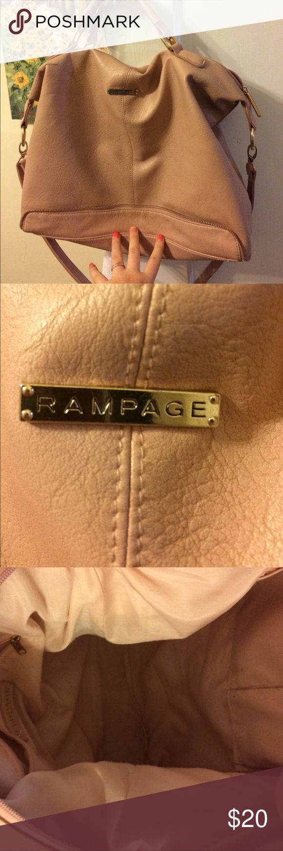 Pink tote purse A little ware and tear but still in great condition Rampage Bags Totes