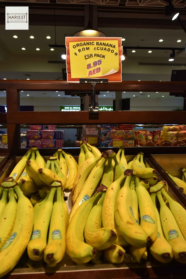 Now you can buy Organic Bananas from our Fruit section. Visit Harvest Supermarket for quality and tasty fruits. .. We are located on the 1st floor of Al Shaab Village. .. #Harvest #Supermarket #Sharjah #UAE #AlshaabVillage #Fruits