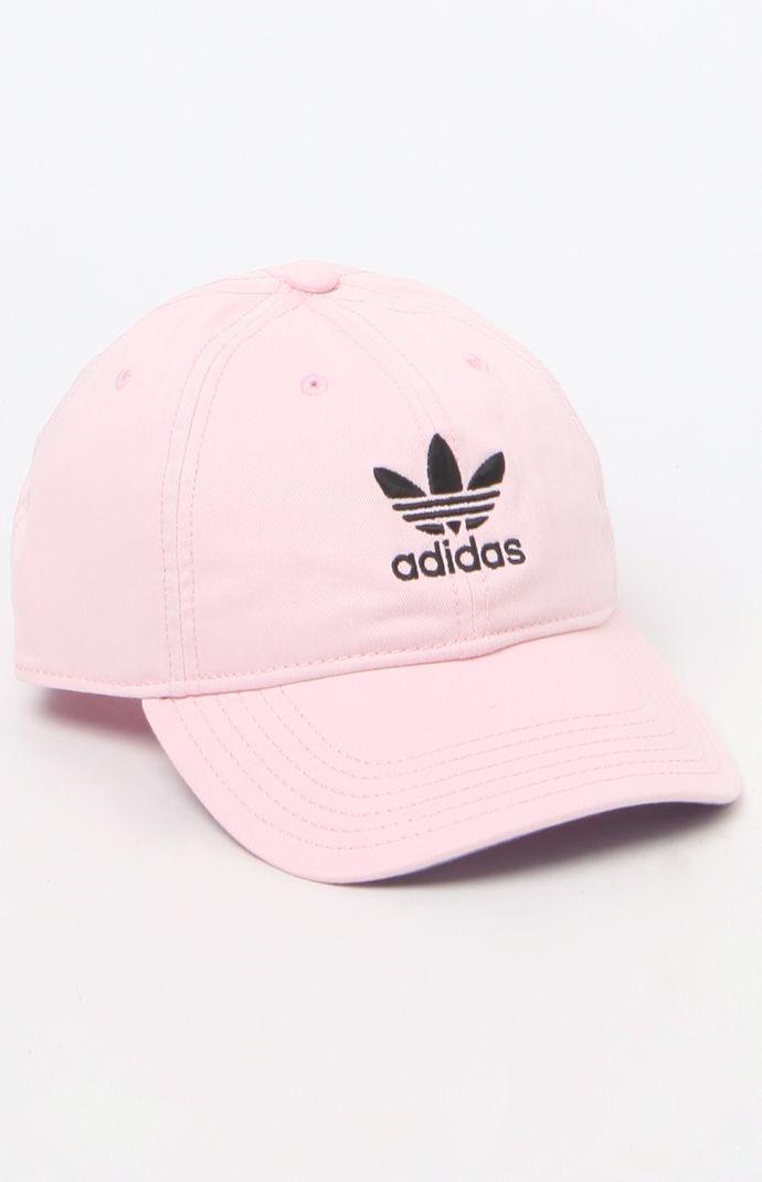 Hooked on Original Pink & White Strapback Dad Hat that I found on the PacSun App