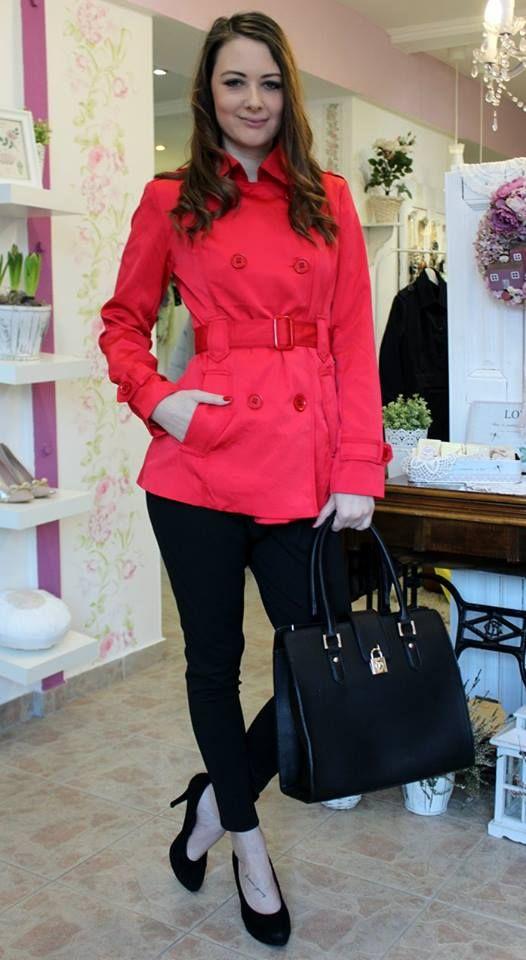 Red balloon coat