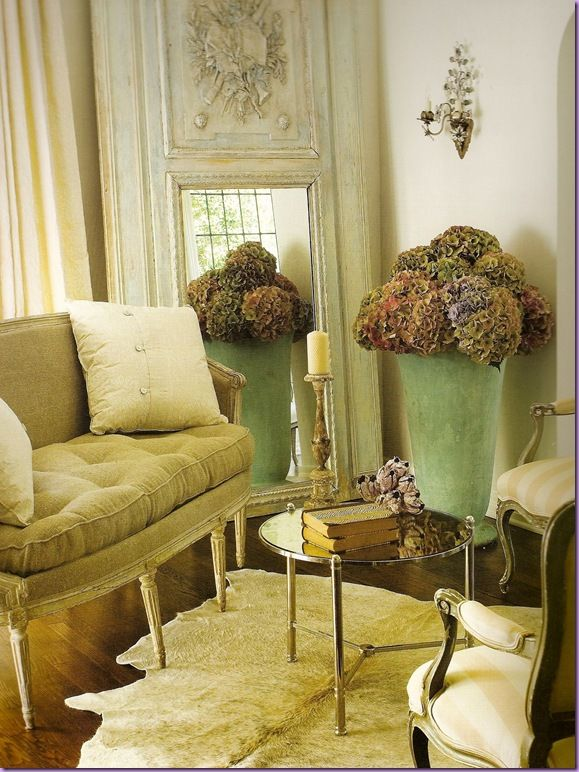 I Love This Rug And Mirror: A Country French House: Authentic Elements
