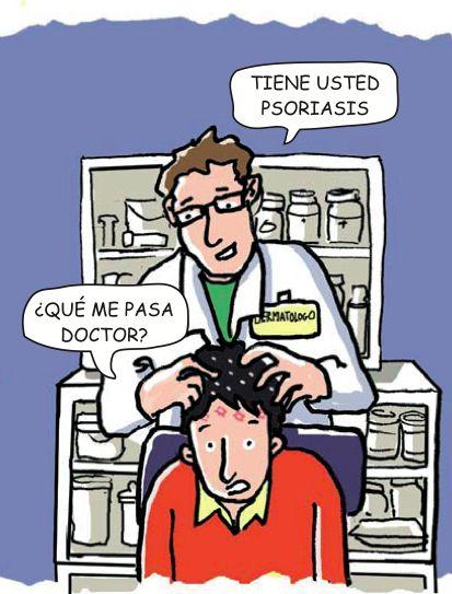 ¿La psoriasis hace que el cabello se caiga? La psoriasis en sí misma no hará que el cabello se caiga. Sin embargo, tu intento de eliminar las escamas, puede hacerte perder el pelo. Además, algunos medicamentos, tales como ácido salicílico temporalmente puede dañar el cabello.
