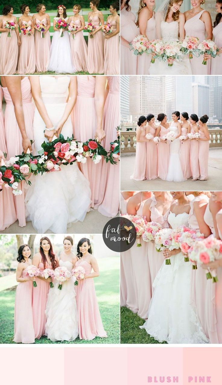 bridesmaids dresses by colour : blush pink bridesmaids | fabmood.com