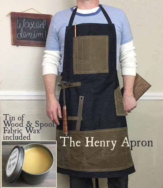 Man's Apron Barber's Apron Denim Apron Apron for