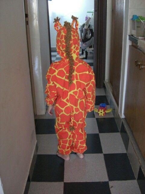 Disfraz jirafa hecho por mí