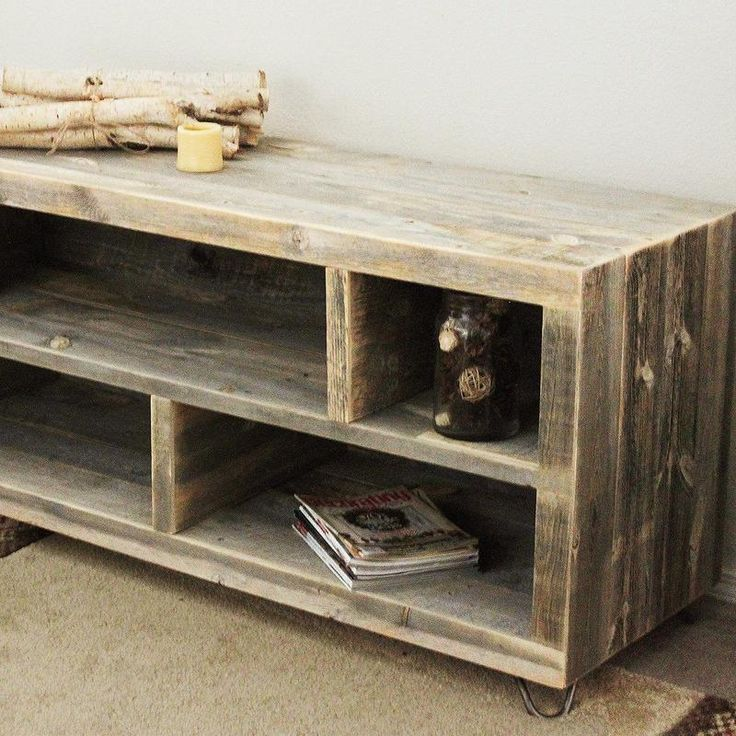 Reclaimed Wood Media Console, Adjustable Bookshelf, Bookcase - Free Shipping - JW Atlas Wood Co.