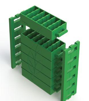The BriGado brick-making kit prototype.The mould is for clay, mud, and concrete bricks, producing 6 bricks per mould fill. #BLCFinalist #BLCShowcase   www.betterlivingchallenge.co.za