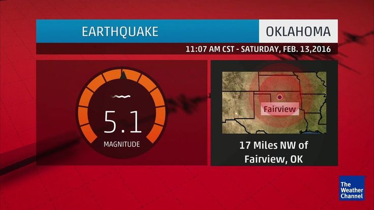 Magnitude 5.1 Earthquake, Third Strongest on Record in Oklahoma, Felt as Far Away as Kansas City | The Weather Channel