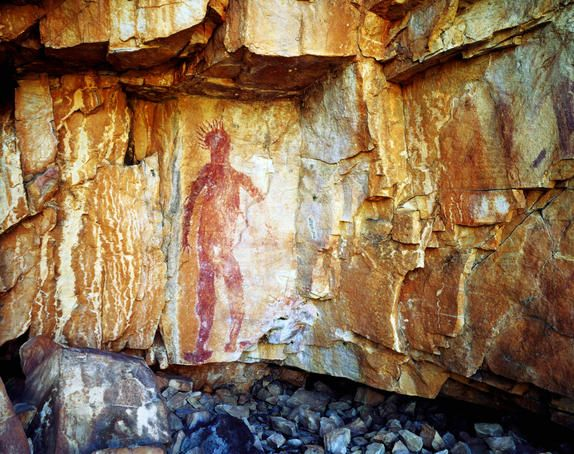 Aboriginal art at Katherine Gorge