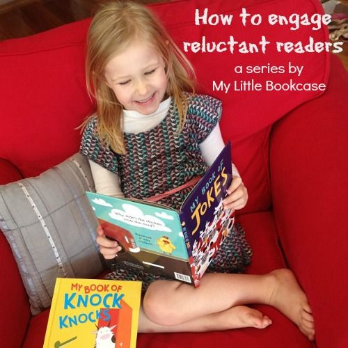 How to engage reluctant readers by My Little Bookcase series.  Nice post.  Remember Readers Theater engages reluctant readers, too!  Lots of free scripts online.  :)