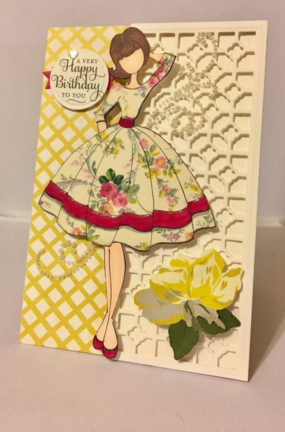Birthday Card Julie Nutting Prima Doll Audrey by HardtandSoul