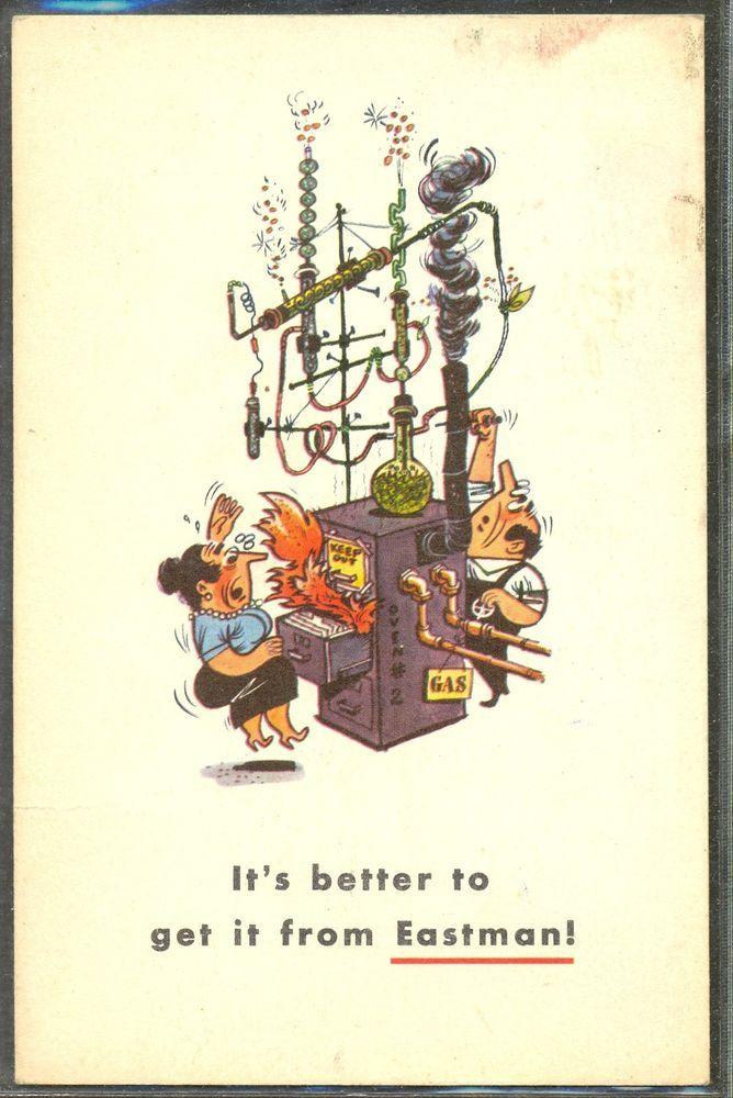 NA088 PUB Advertising EASTMAN HOMME CHIMISTE MACHINE INFERNALE HUMOUR COMIC