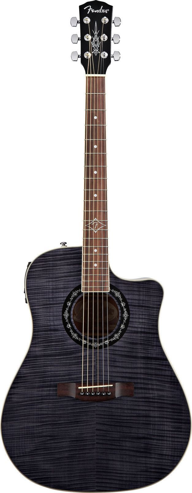drooling over this gorgeous acoustic-electric guitar: Fender T-Bucket 300 CE (Black)   $300 at