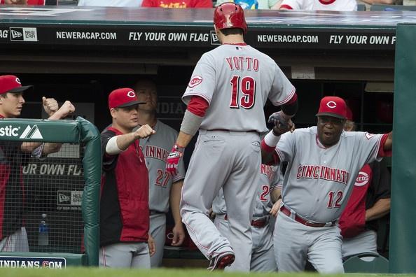 Joey Votto Photo - Cincinnati Reds v Cleveland Indians
