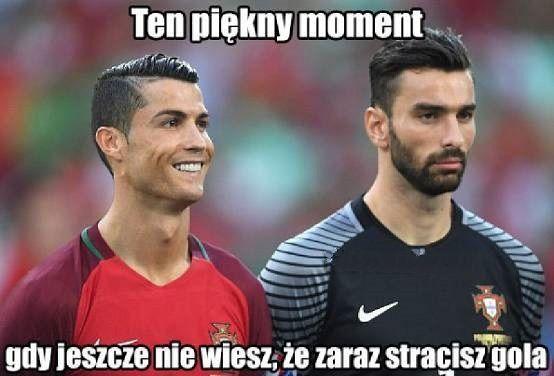 Ten piękny moment gdy jeszcze nie wiesz, że zaraz stracisz gola • Memy po meczu Polska Portugalia - Euro 2016 • Wejdź i zobacz >> #polska #portugalia #euro #euro2016 #football #soccer #sports #pilkanozna #pol #memy