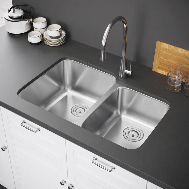 Exclusive Heritage x Double Bowl Undermount Stainless