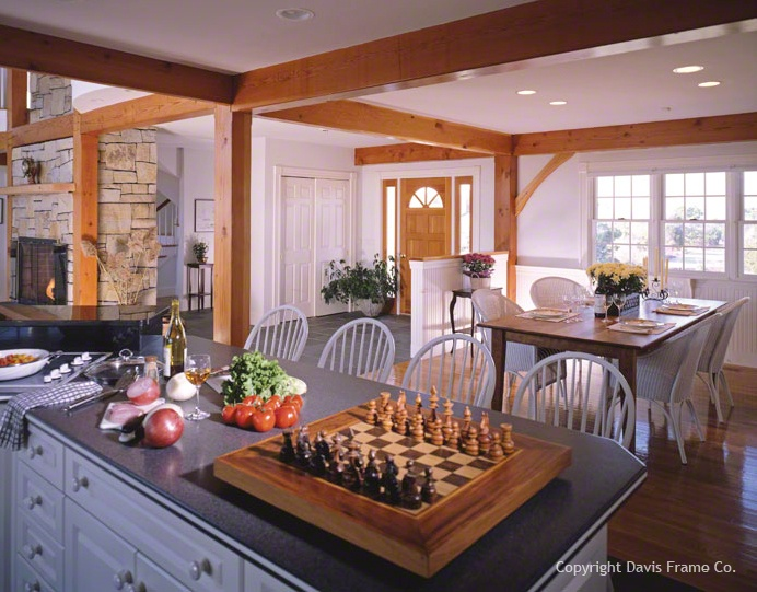 17 best images about dream kitchens on pinterest lots of for Post and beam kitchen ideas