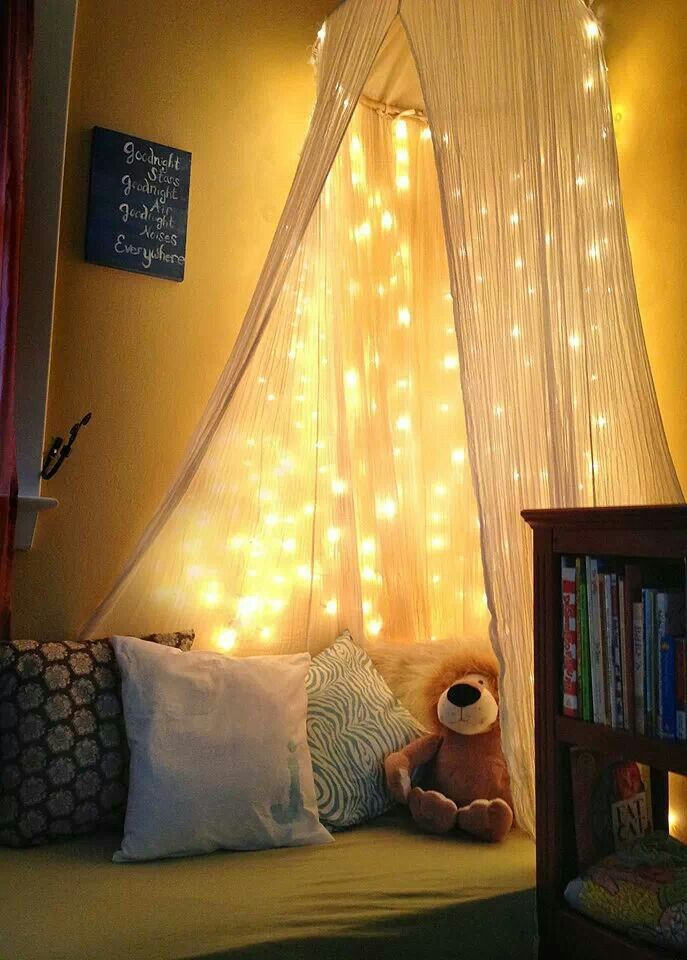 LOVE DIY canopy with lights DIY toddler