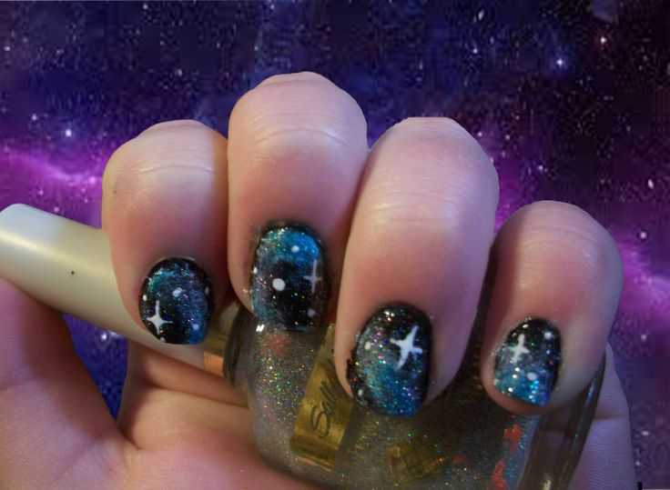 Nail Art Challenge, Day 21: Galaxy Nails