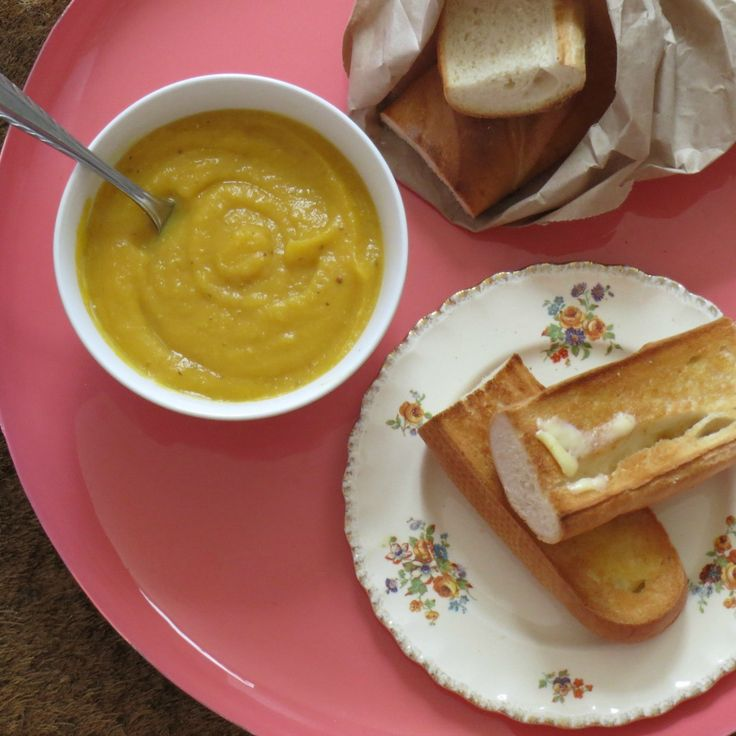 We've rounded up 14 pumpkin soups like this one by Caroline Wright. That's 14 reasons to pick up a pumpkin!