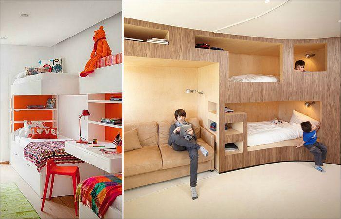 Кровати и спальни, экономящие пространство.