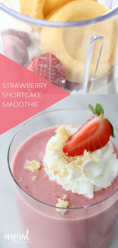 Strawberry Shortcake Smoothie - a healthier version of one of my favorite dessert recipes.