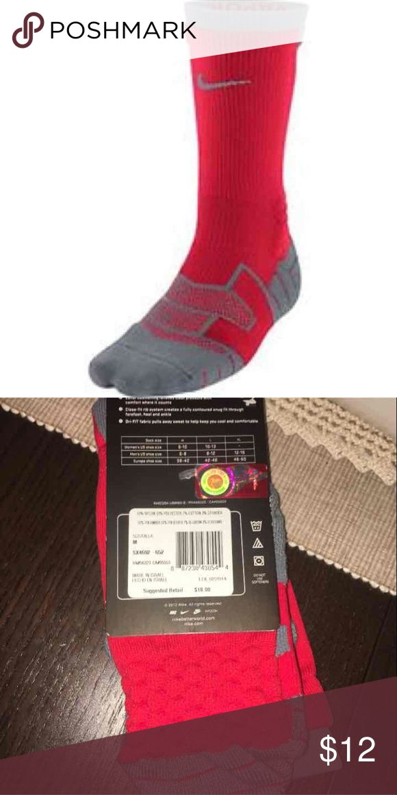 Nike Elite Crew Socks Ohio State (1P) Nike Elite Socks Drifit Ohio State  ❤️SAME OR NEXT DAY SHIPPING ❤️WILL BUNDLE WITH OTHER ITEMS Nike Accessories Hosiery & Socks