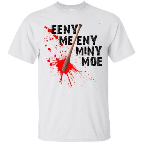 Eeny Meeny Miny Moe Shirt, Hoodie, Tank - Awesome Walking Dead Baseball Bat Design Eeny Meeny Miny Moe