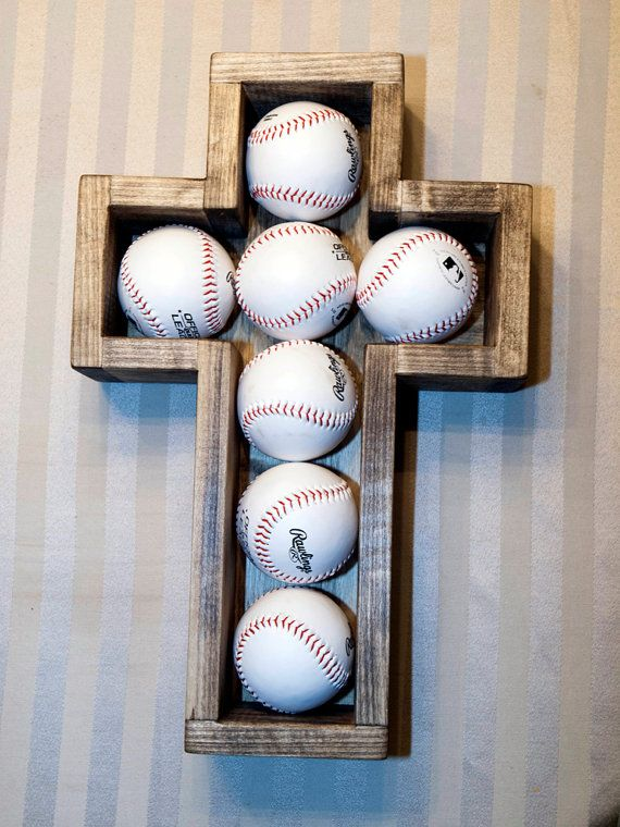 Wooden+Cross+Shadow+Box+Baseballs+Wood+Baseball+by+MadeByBueller